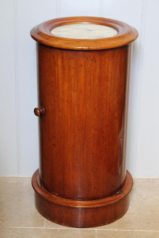 Victorian Mahogany Cylinder Bedside Cupboard