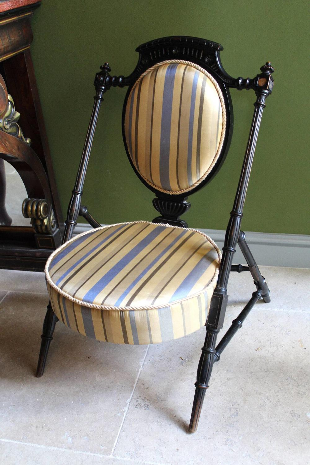Aesthetic Ebonised Chair in the manner of Dr Christopher Dresser