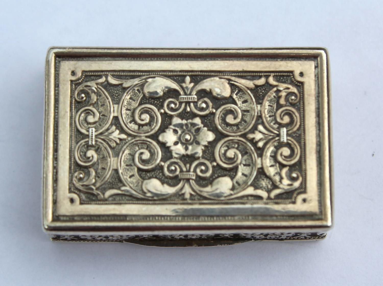 Antique Continental Silver Vinaigrette