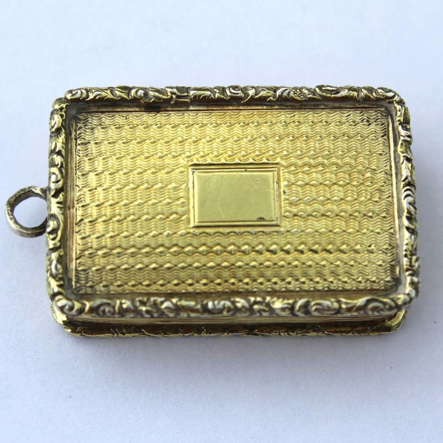 William IV Silver Gilt Vinaigrette
