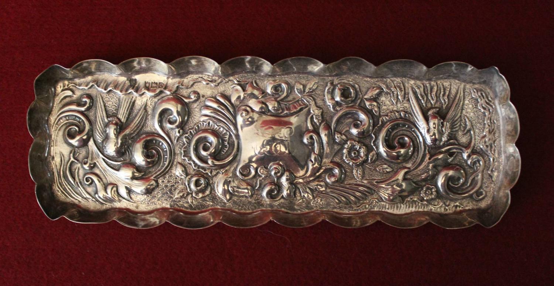 Victorian Silver Pen Tray