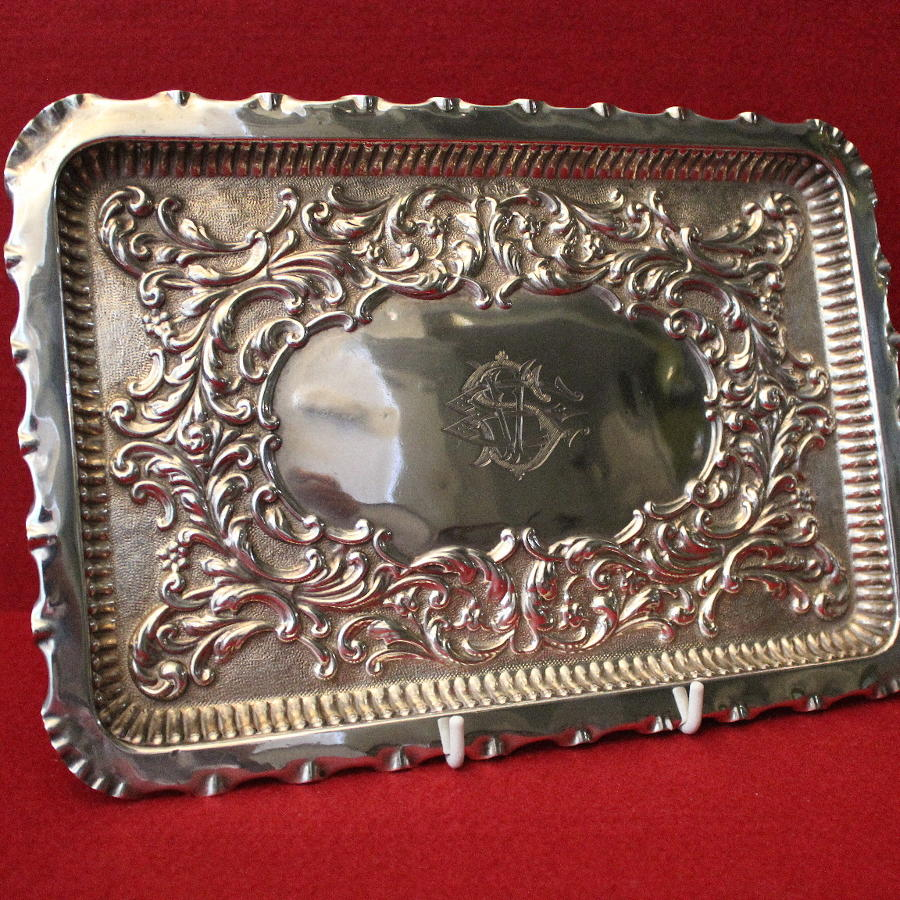 Sterling Silver Dressing Tray Chester 1902