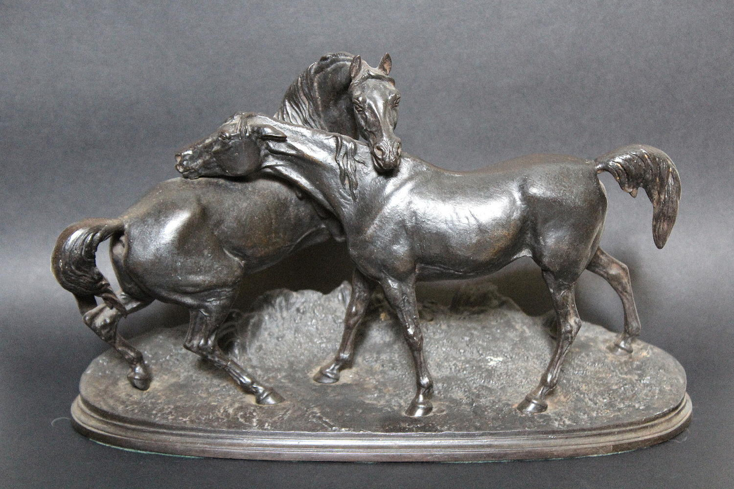 Russian Cast Iron Horse Group after Mene
