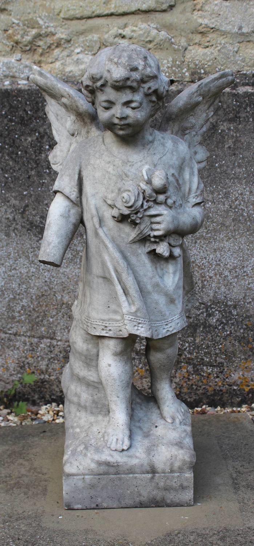 Carved Marble Angel Memorial
