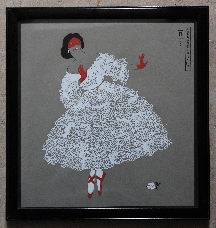 Dorothy  Burroughes Ballerina Watercolour & Gouache