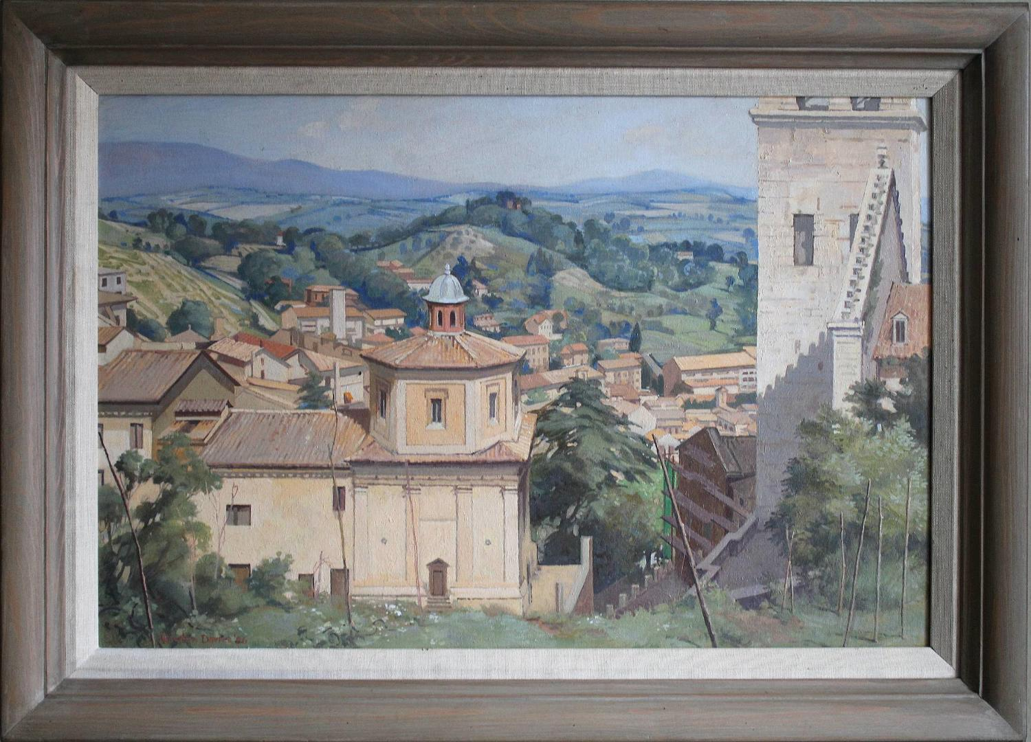 Gordon Davies, Spoleto, Italy, Oil on Board