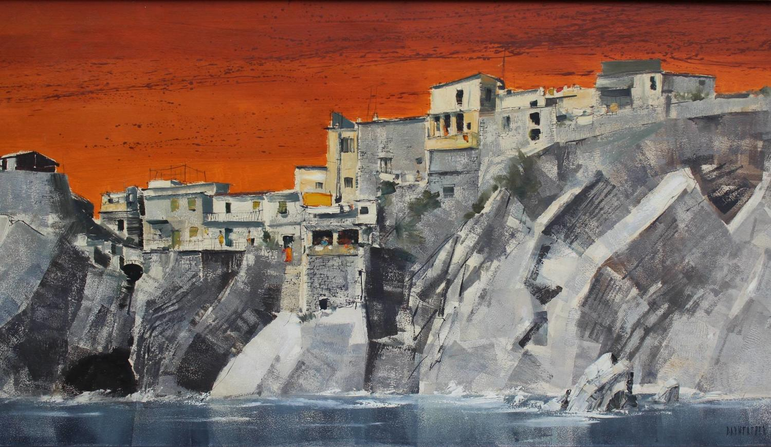 Michael Barnfather Vernazza, Italy, Oil on Board
