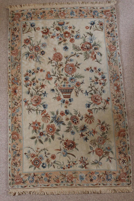 Vintage Kashmiri Chain Stitch Rug