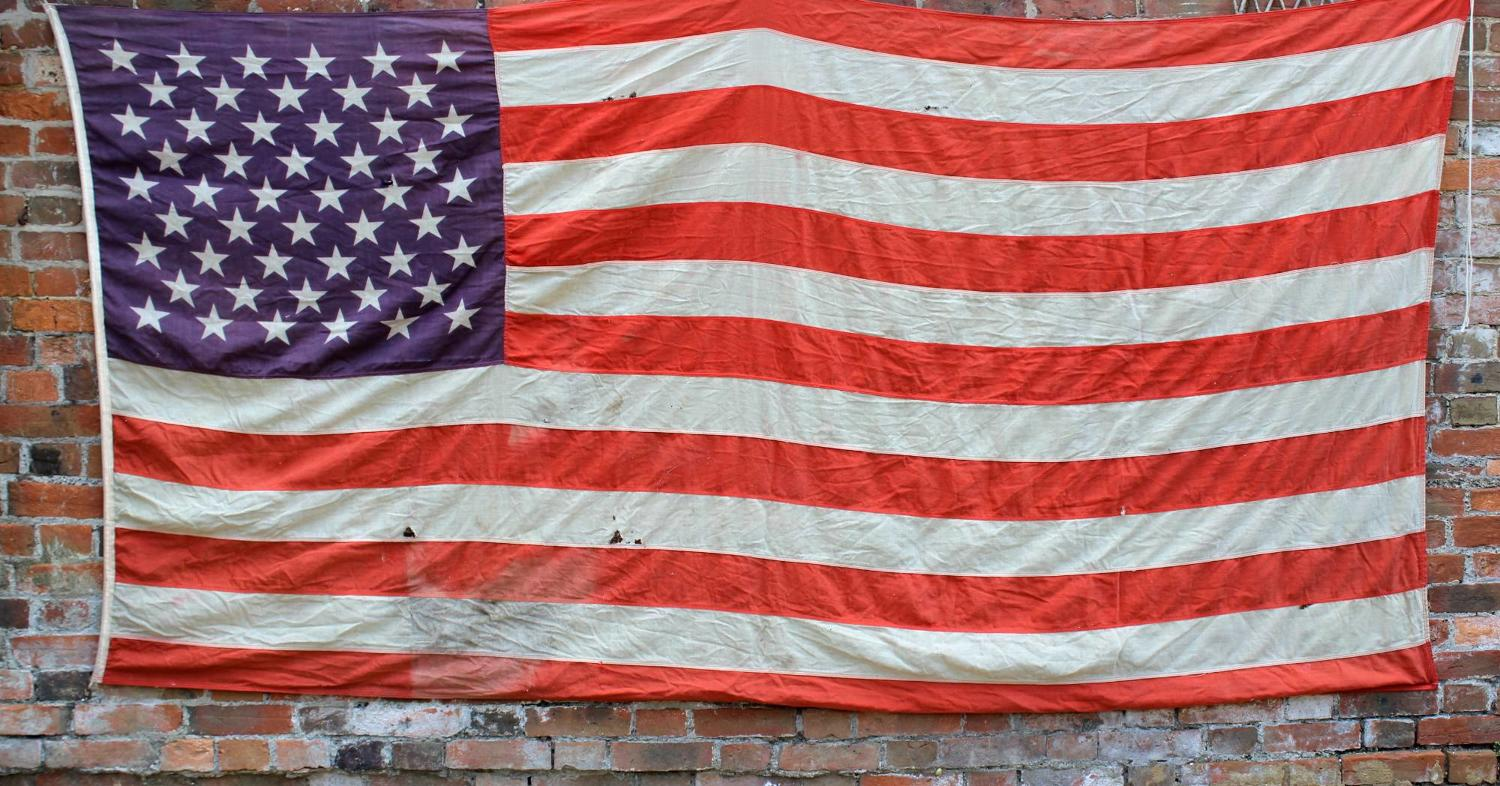 Large Vintage American Stars & Stripes Flag
