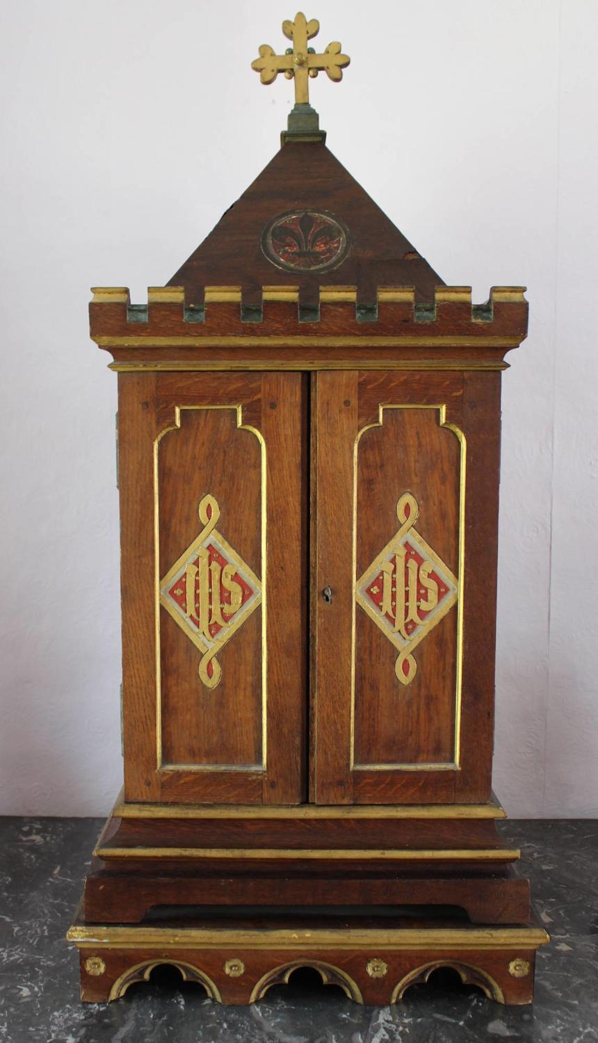 French Gothic Ecclesiastical Tabernacle Cabinet
