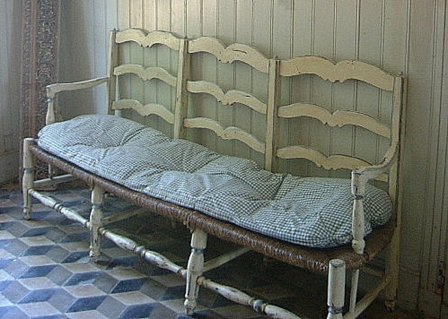Antique French Provencal Bench Sofa
