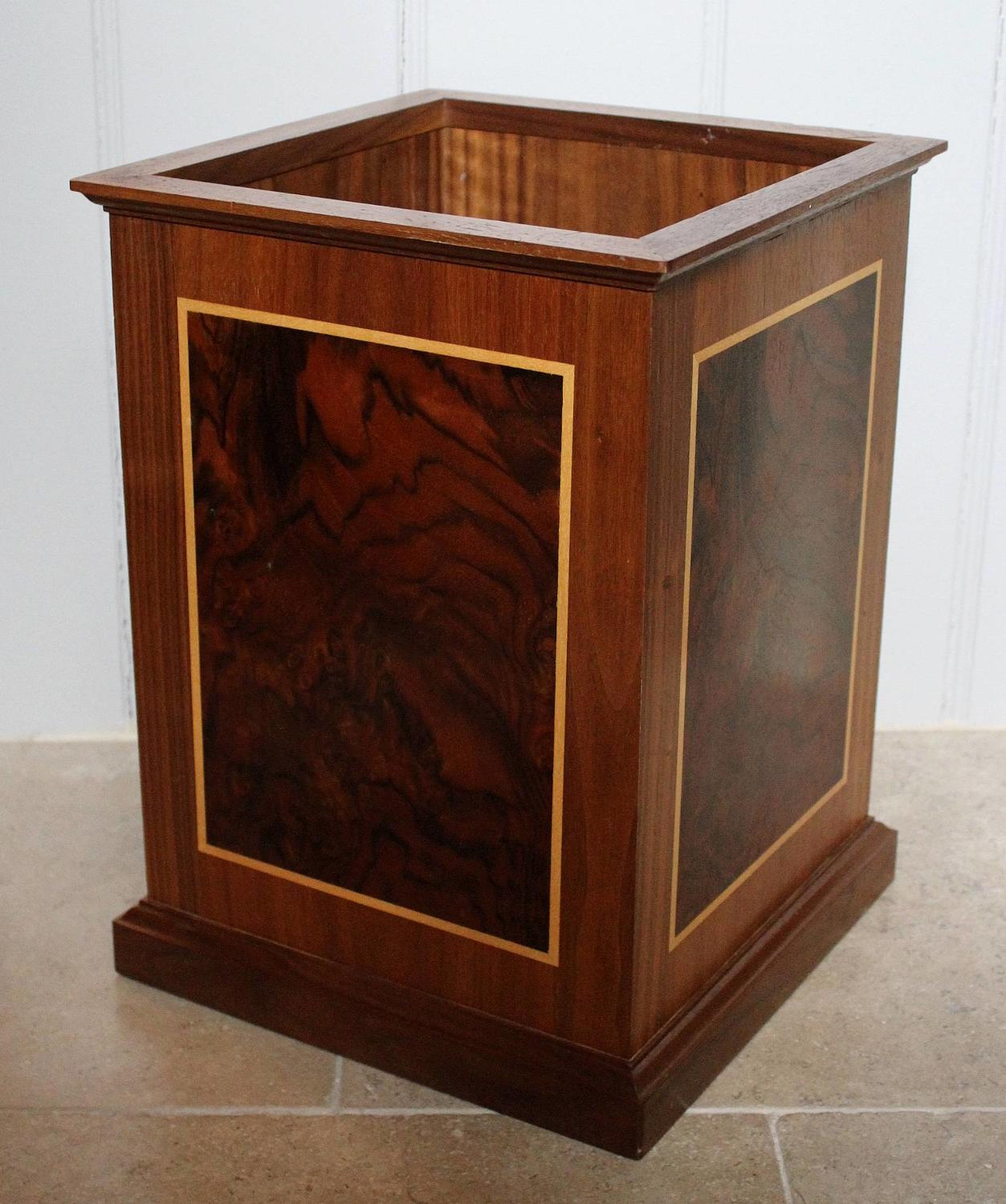 David Linley for Dunhill Marquetry Waste Paper Bin