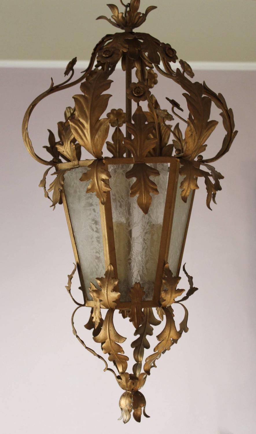 French Gilt Metal Lantern