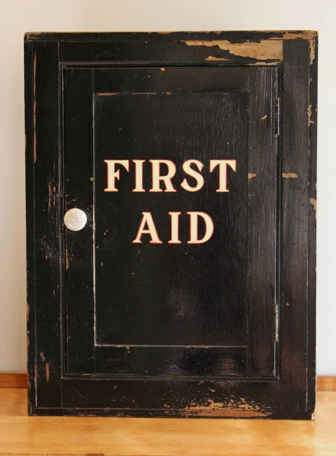 A Vintage First Aid Cabinet in Original Paint