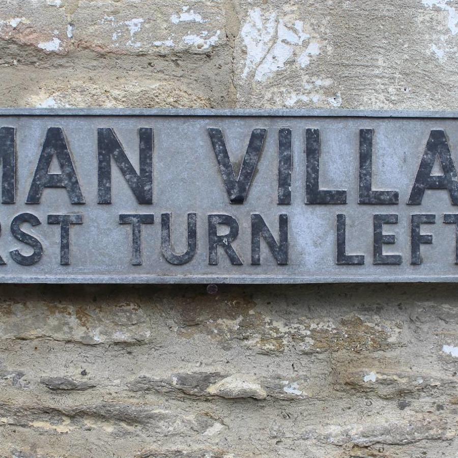A Vintage Roman Villa Sign
