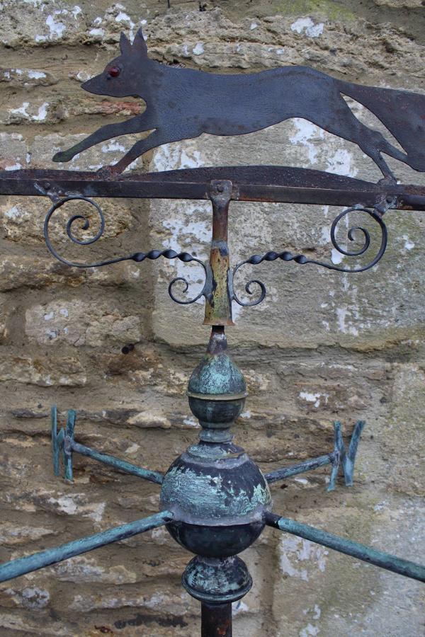 A Vintage Copper & Steel Fox Weather Vane
