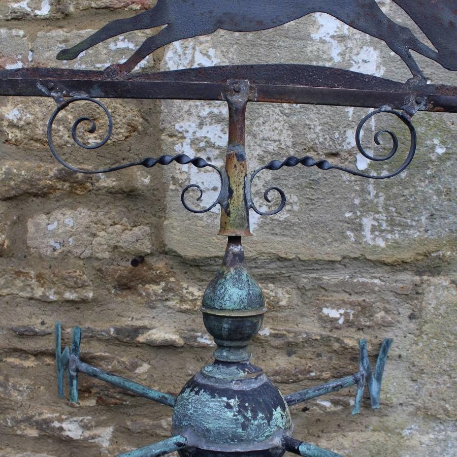 A Vintage Copper & Steel Fox Weather Vane