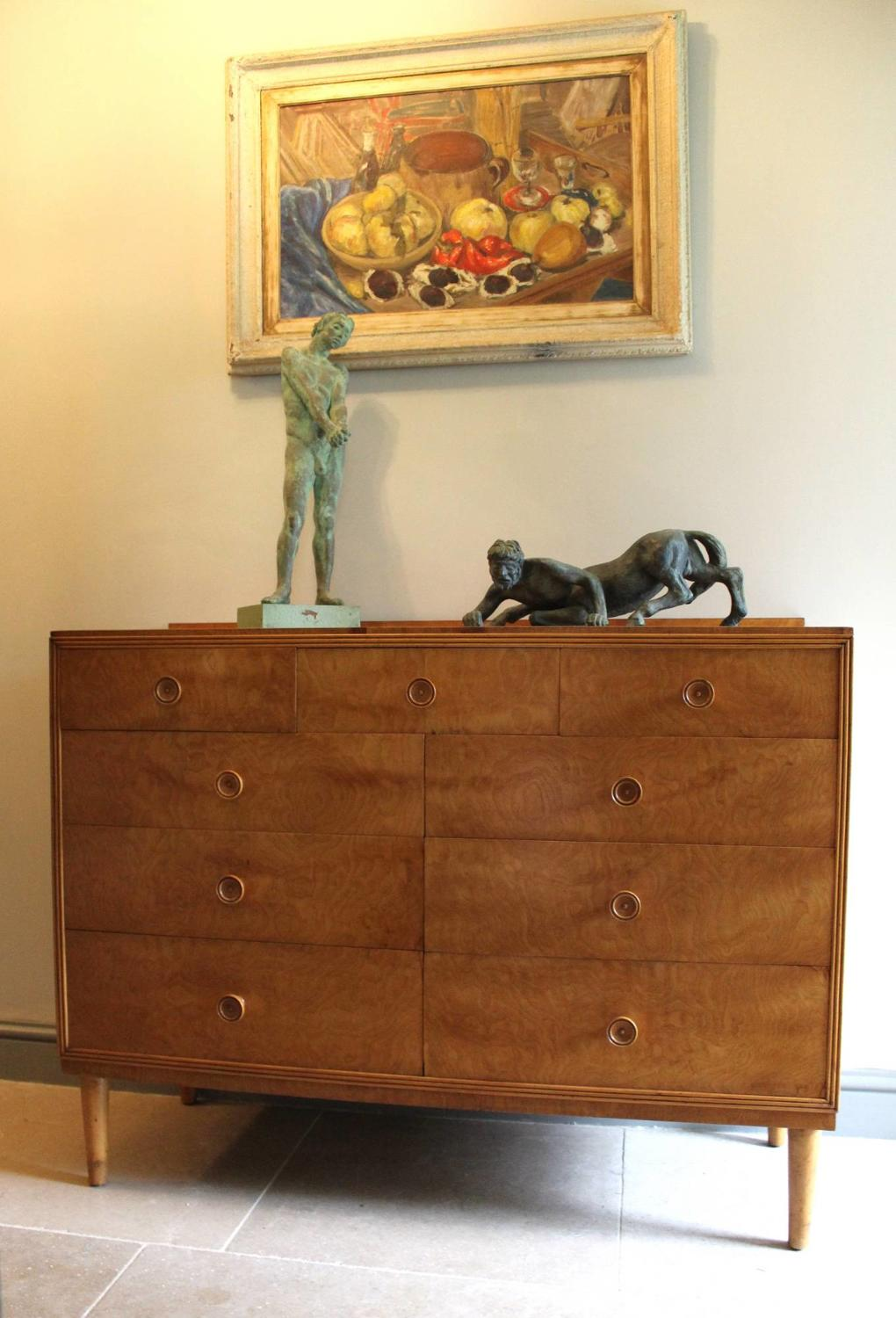 1950s Satinwood Chest of Drawers \ Sideboard