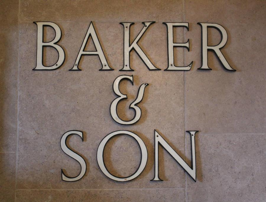 Enamelled Brass Shop Sign Letters