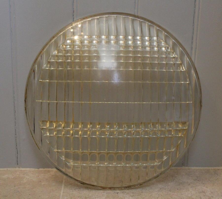Huge Vintage GEC Glass Lens