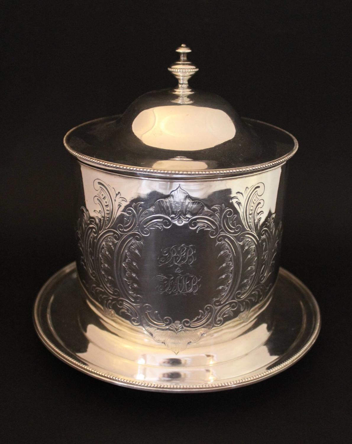 A Victorian Silver Plated Biscuit Barrel