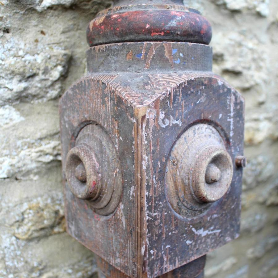 A Huge Victorian Gothic Architectural Newel Post