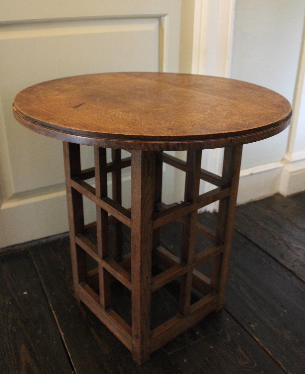 An Arts & Crafts Oak Side \ Occasional Table