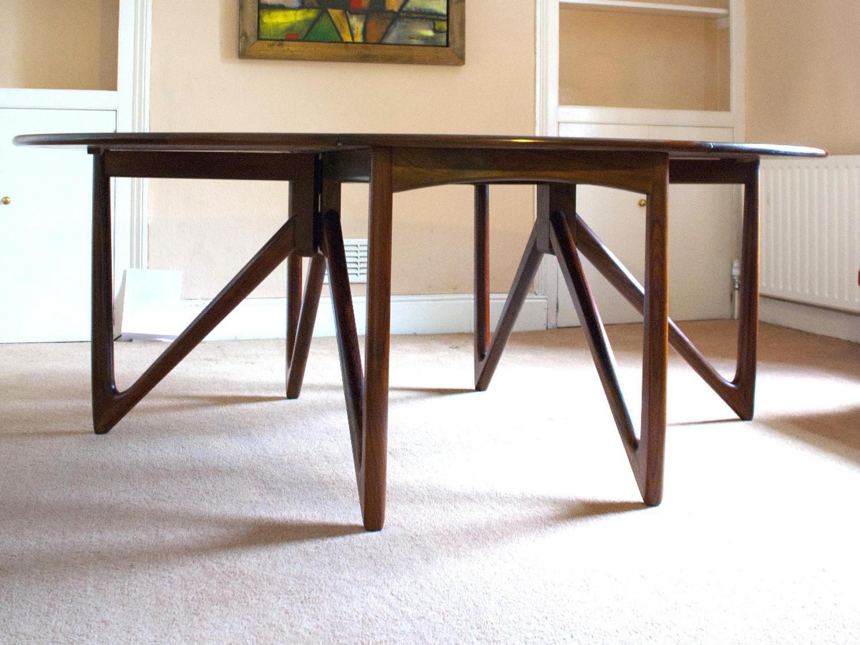 A Kurt Ostervig Jason Mobler Danish Rosewood Dining Table