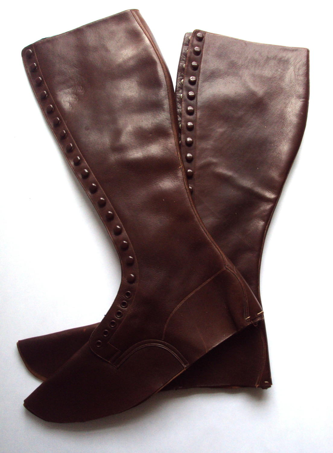 A Pair of French Officers Leather Spats