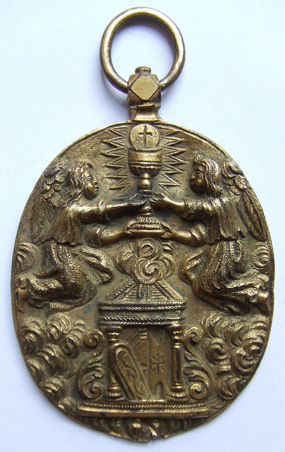 A Rare 17th Century Portugese Gilt-Bronze Medallion