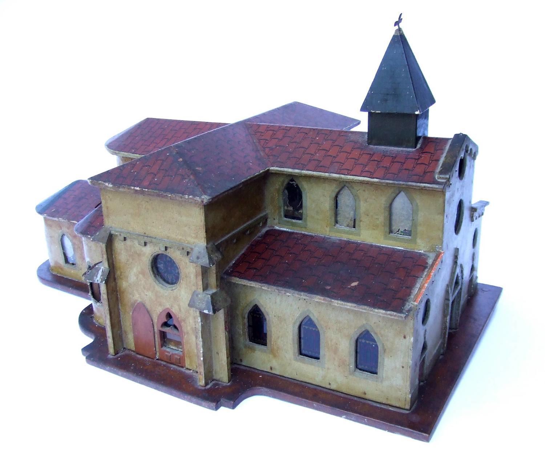 A French Folk Art Model of a Church