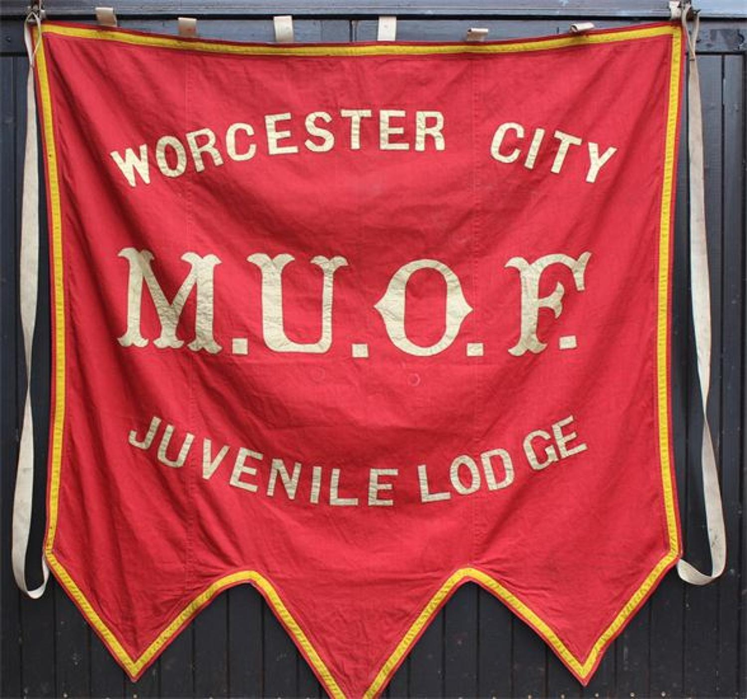 Manchester Unity of Oddfellows Marching Banner Worcester Lodge c 1910