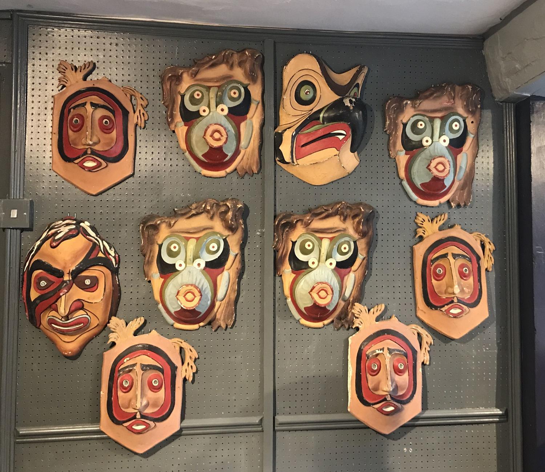 Ten Unusual Fairground or Sideshow Masks