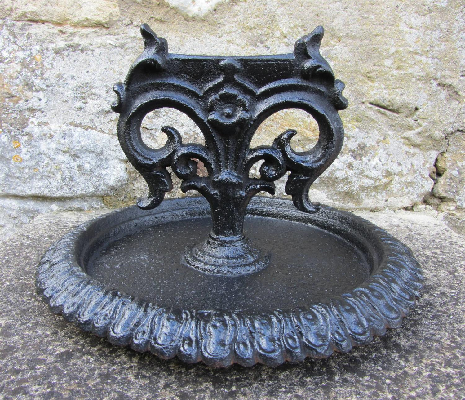 A Victorian Cast Iron Boot Scraper