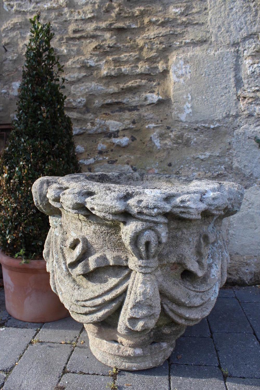 An 18th Century Carved Limestone Garden Urn