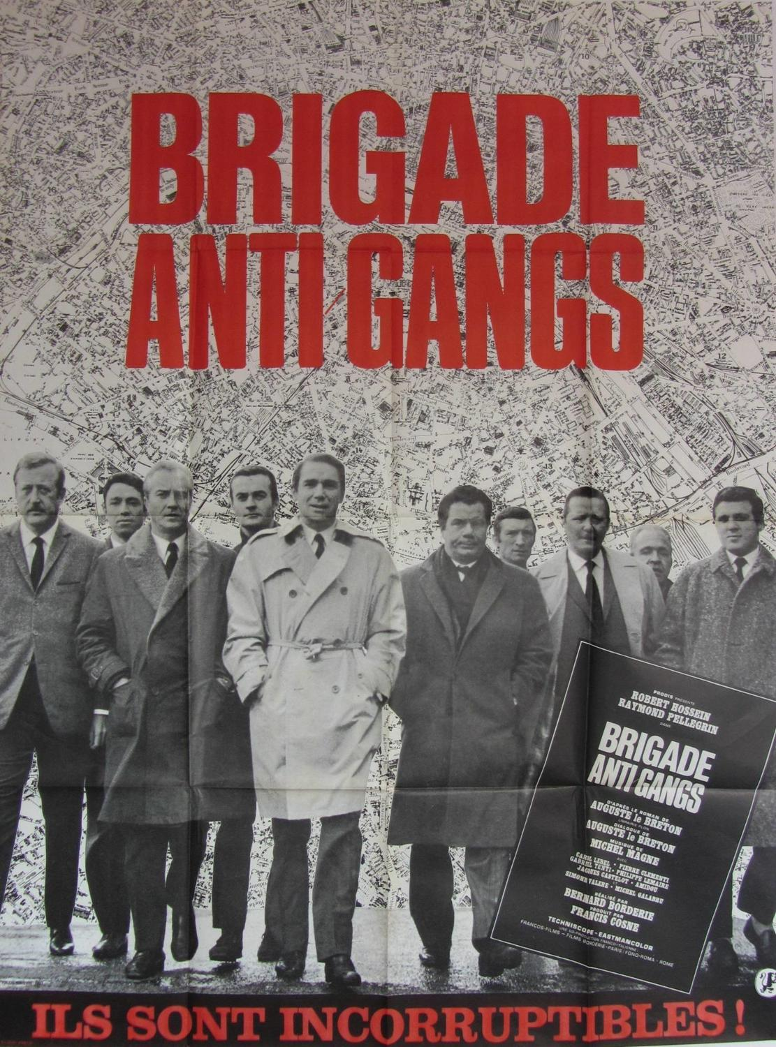 An Original French Film Poster `Brigade Anti Gangs` 1966