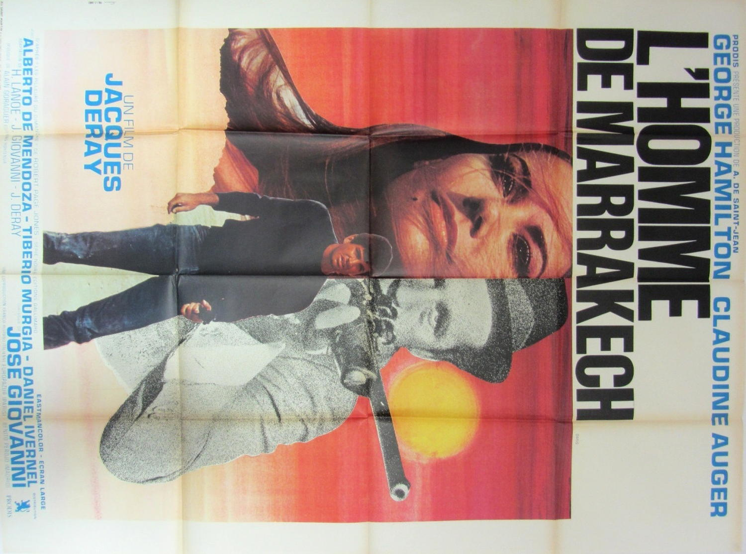 An Original French Film Poster  `L`Homme de Marrakech` 1966