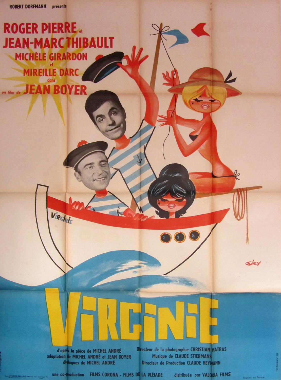 An Original French Film Poster `Virginie` 1962