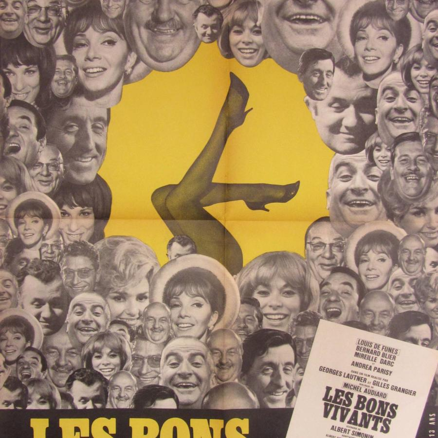 An Original French Film Poster `Les Bons Vivants` 1965