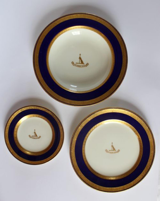 Three Spode Porcelain Armorial Plates