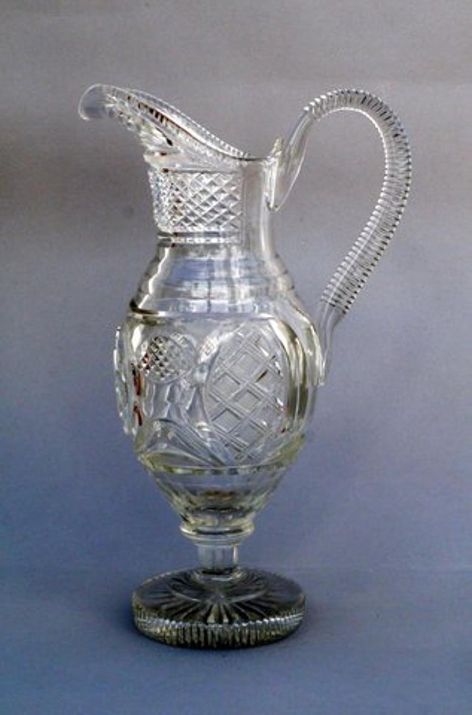 A Regency Revival Cut Glass Water Jug