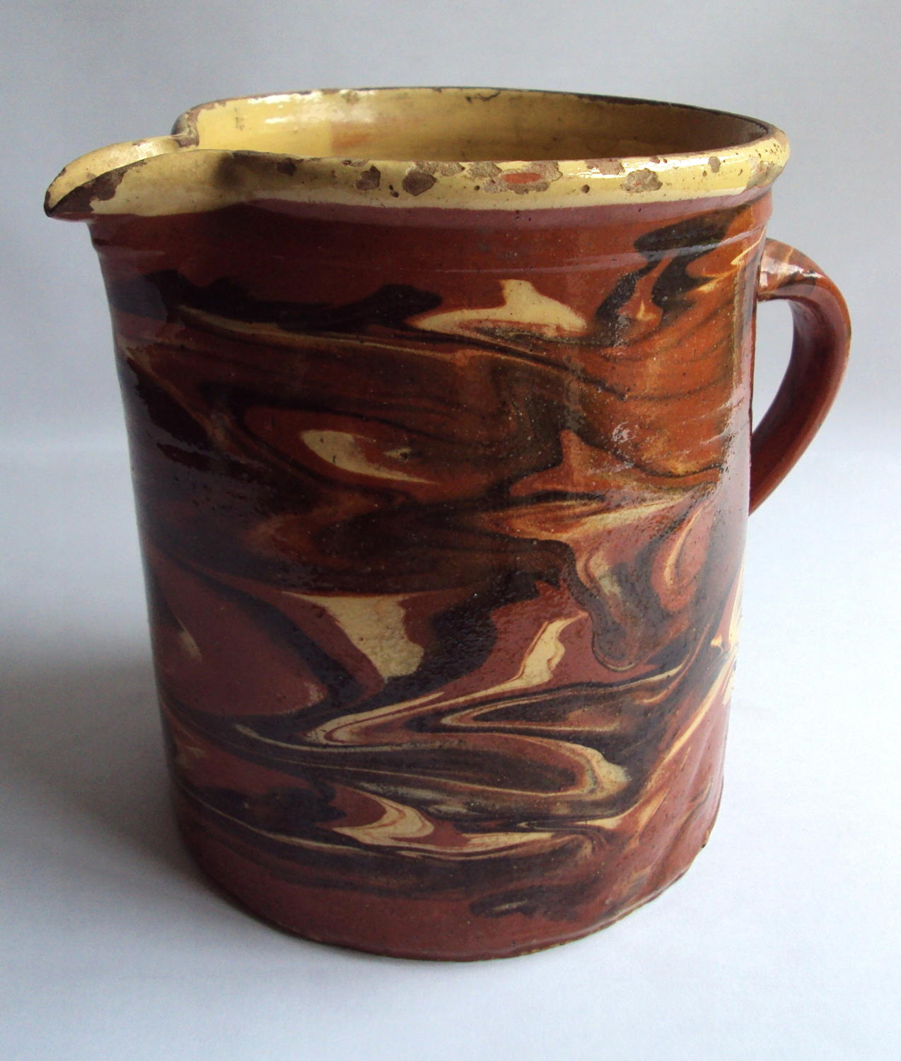 A 19th Century French Provencal Agateware Jug