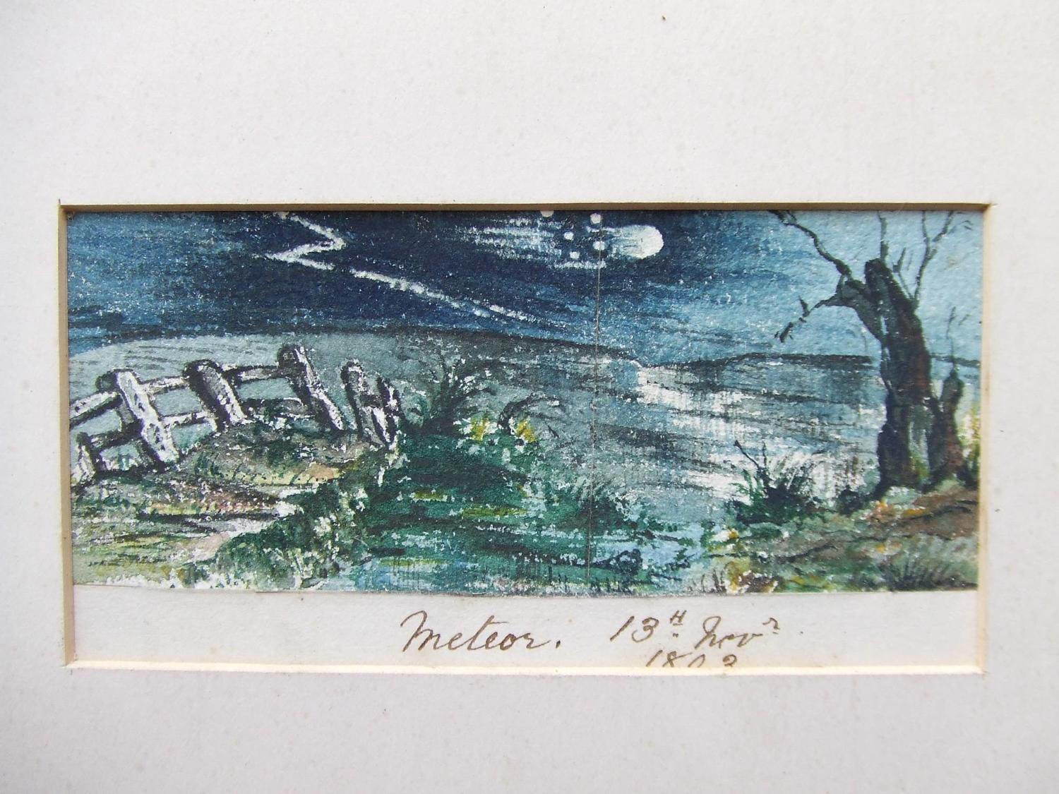A Rare and Unusual Watercolour of a Meteor dated 1803