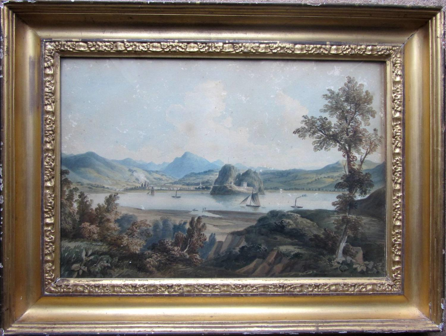 An early 19th Century Scottish School Watercolour of Dumbarton Castle