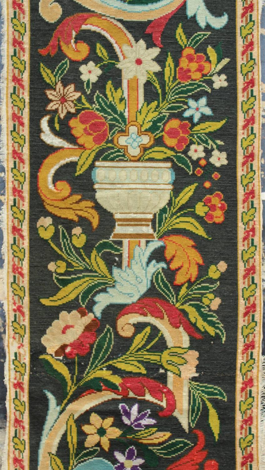 A Large Victorian Woolwork Wall Hanging
