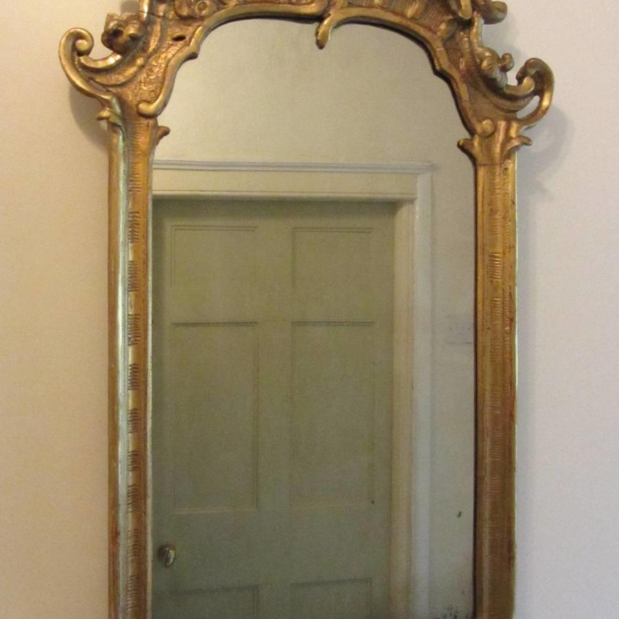 A 19th Century Carved Giltwood Wall Mirror