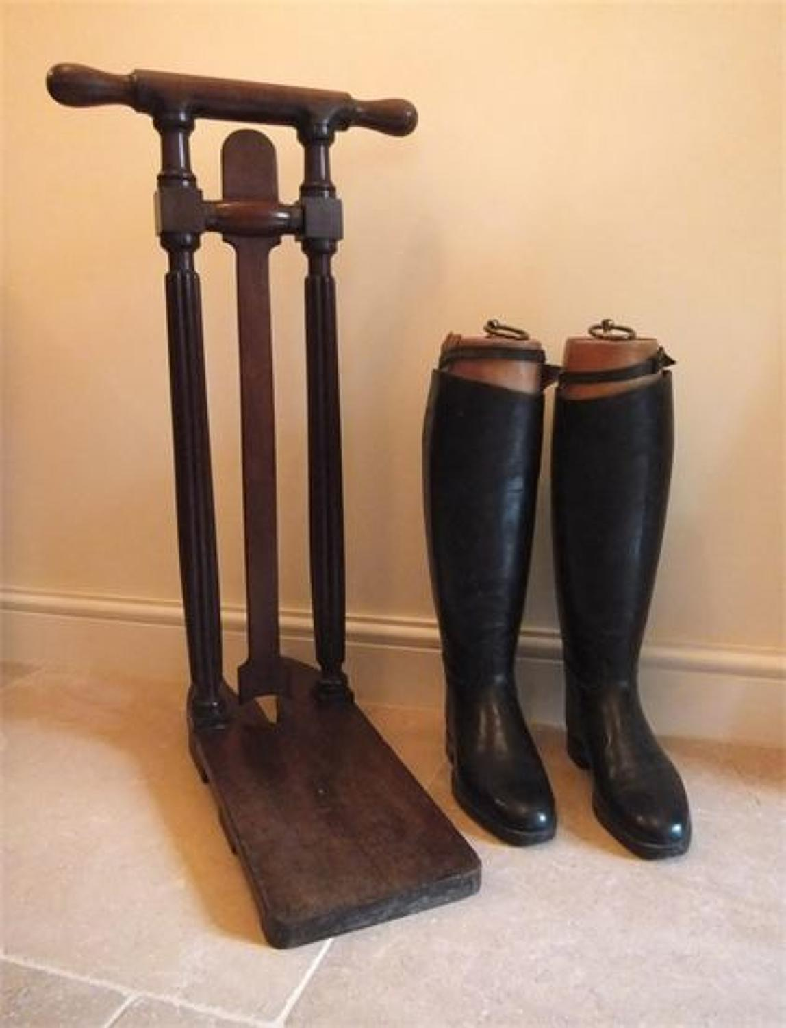 A Regency Mahogany Country House Boot Jack