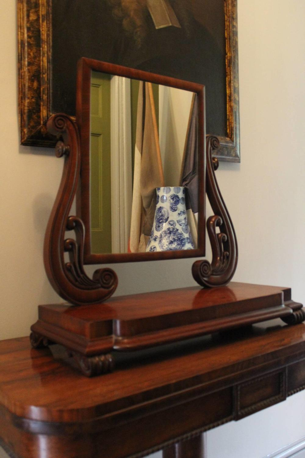 An Early Victorian Mahogany Toilet Mirror