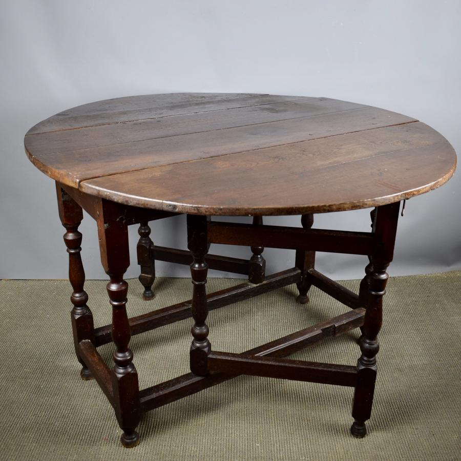 18th Century Oak Gateleg Dining Table