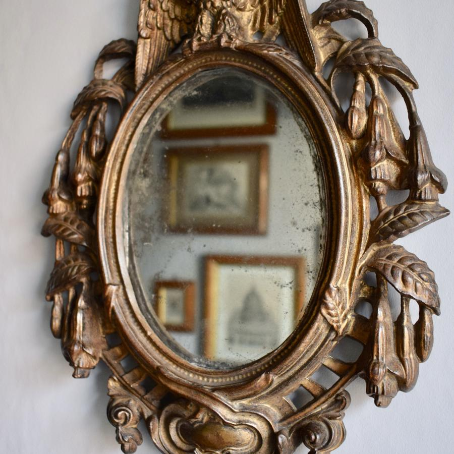 Antique American 'Patriotic' Cast Iron Mirror